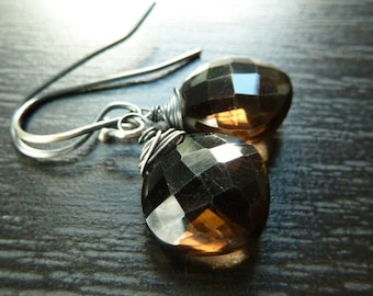 Brown, Nature, Wood, Smoky Quartz and Oxidized Sterling Silver by Anastassia Designs