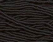 11/0 Jet Black Czech Glass Seed Beads 20 grams