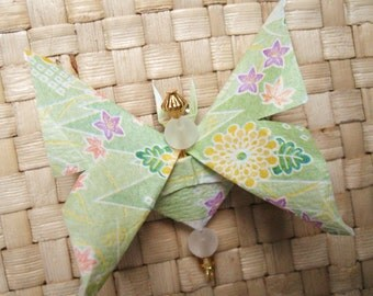 japanese paper origami chiyogami washi butterfly pin by cra1nes on etsy