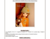 33.  English and  French INSTANT DOWNLOAD PDF knitting Pattern for msd bjd Kaye Wiggs dolls 18""