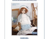45. English and  French INSTANT DOWNLOAD PDF knitting Pattern msd bjd kaye wiggs dolls dollstown 17""