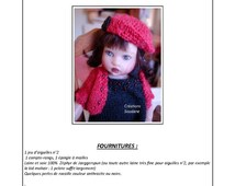 "7.  Only  French INSTANT DOWNLOAD PDF knitting Pattern pour Helen Kish Riley 8"" artist doll"