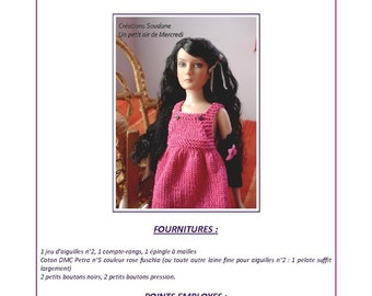 "17.  Only  French INSTANT DOWNLOAD PDF knitting Pattern pour Agnes Tonner 12"" fashion doll"