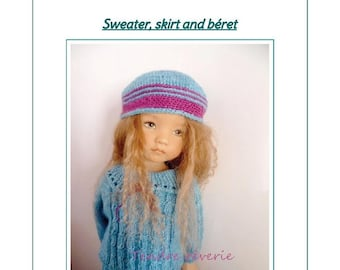 "55. English and  French INSTANT DOWNLOAD PDF knitting Pattern 13"" dolls Little Darling, Narsha, Zihu"