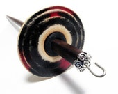Stoneware with Red and Black Glass Drop Spindle, 1.04oz
