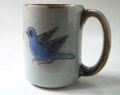 El Palomar Tonala-Blue stoneware mug.