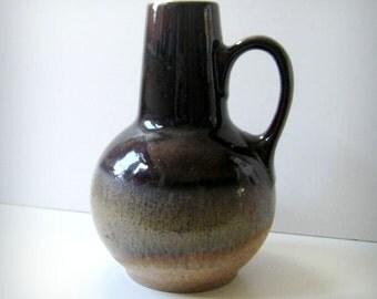 1960s West German mid-century modern pottery vase by Steuler.