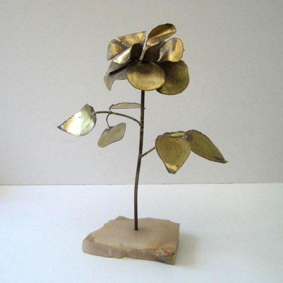 The Flower. Vintage metal sculpture.