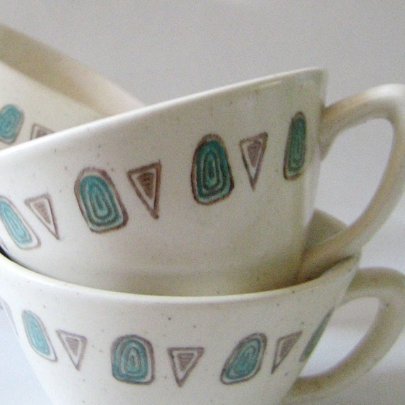 Poppytrail. Set of four 1950s Metlox cups.