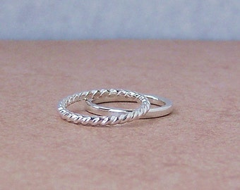 Everyday Stackers Argentium Sterling Silver Rings, Cavalier Creations