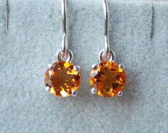 6mm Madeira Citrine Sterling Silver Earrings, Cavalier Creations