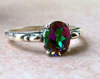 1.5ct Mystic Topaz Sterling Silver Ring, Cavalier Creations