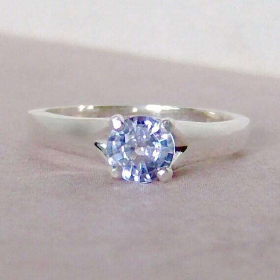 Genuine .89ct Ceylon Sapphire Sterling Silver Ring, Cavalier Creations
