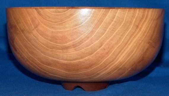 Elm Bowl -Handoff- Thin-Walled Elm with Black Walnut Foot