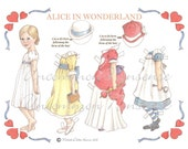 Alice in Wonderland Artist Paper Doll
