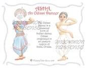 Asha, An Odissi Dancer Paper Doll