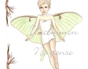 Luna, A Fairy Paper Doll