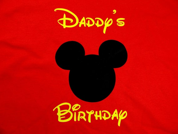 Personalized Custom Mouse Ears Adult Birthday T Shirt