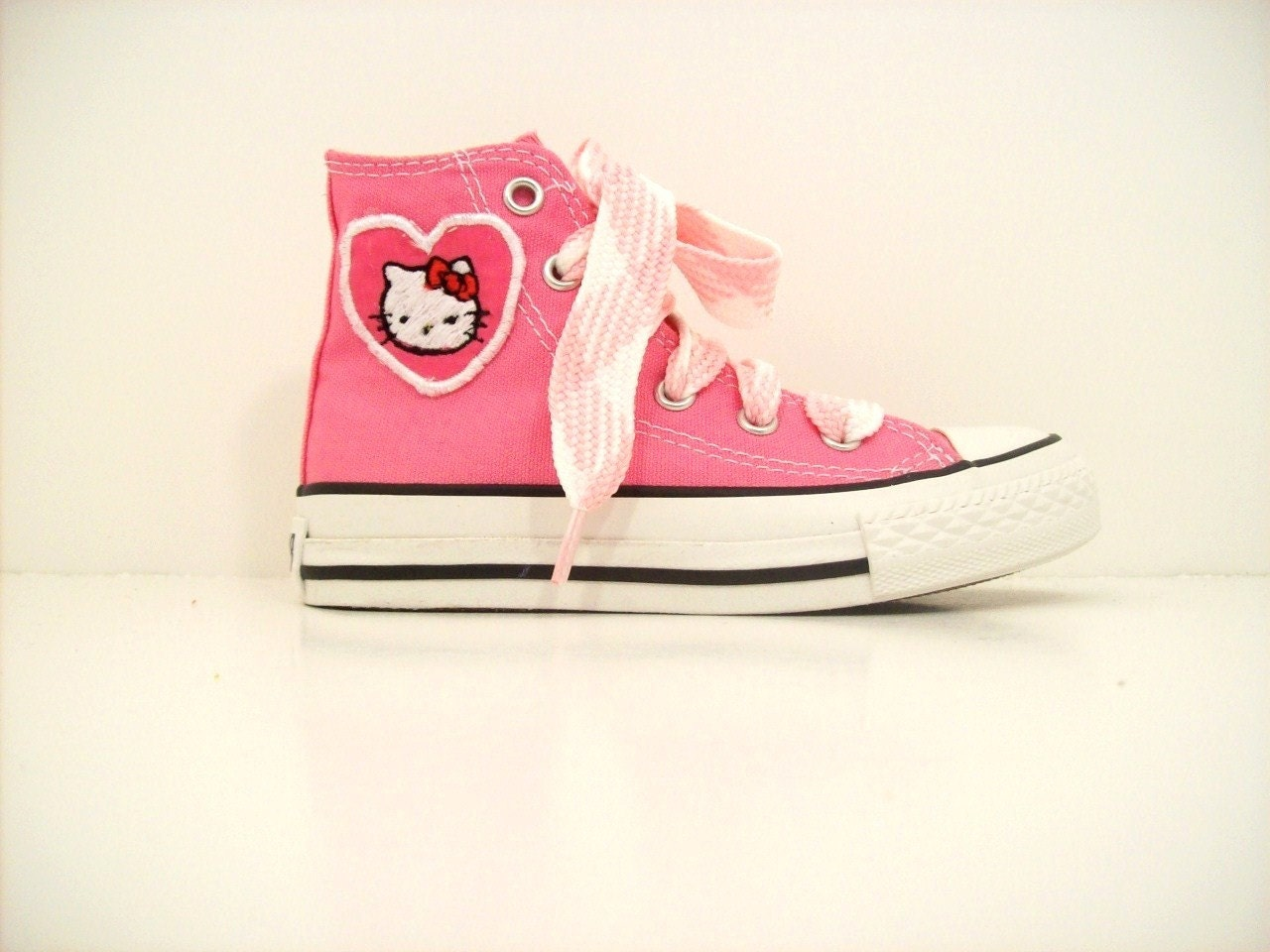 adult and youth custom chuck taylor hello kitty converse shoes