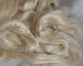 HONEY TUSSAH Silk Top SWEET Natural Colored Approx 4 ounce for Hand Spinning Crafts