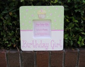 CLEARANCE SALE Birthday Picture Frame for Girls