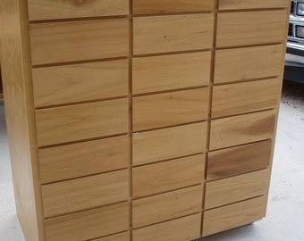 Wood Cabinet with lots of drawers Great for scrapbooking
