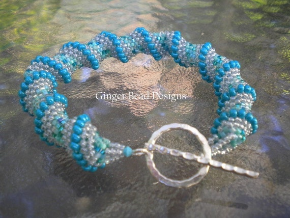 Turquoise Cellini Spiral Bracelet