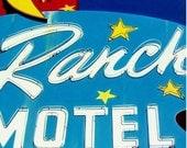 Sky Ranch Motel - Acrylic Painting - Vintage Vegas Googie