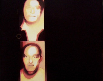 Surveillance - Acrylic Mini Painting