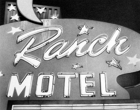 Reserved for Matt1007 - Sky Ranch Motel - Pencil Drawing