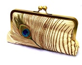 Sale Tally Silk Clutch, Handbag  Lined in Sapphire Dupioni Silk
