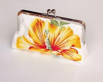Sale Mollie Clutch, bridesmaids gift, Handbag, Dupioni Silk Lining in Ink