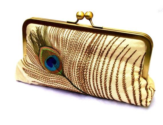 Sale Tally Silk Clutch, Handbag  Lined in Sapphire Dupioni Silk