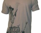 Men's Organic Pirate Shirt in Stone