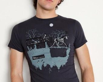 Men's Organic Hearse Shirt Victorian Edwardian Gothic