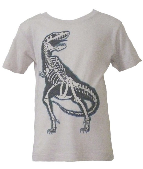 CLEARANCE SALE Organic Toddler T-Rex Shirt in Natural