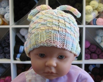 Dragon Baby Infant Beanie and Leg Warmers, Easy level knitting pattern