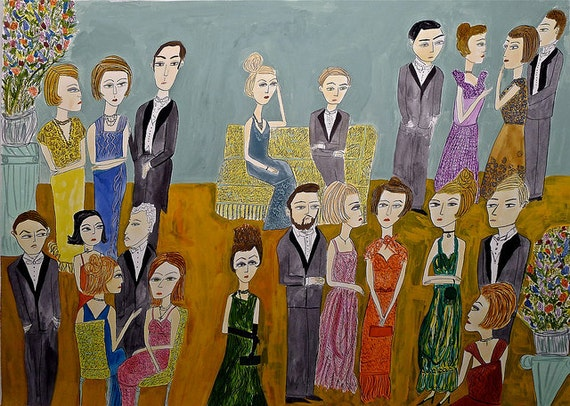 They lived a life dedicated to the disdain of the commonplace. Original painting by Vivienne Strauss.