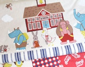 Best of pals(A)-Japanese cotton linen blend fabric