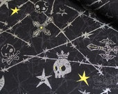 Cool Skull-Japanese cotton fabric (0.5 yard)