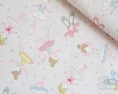 I Love Ballet -Japanese cotton fabric (0.5 yard)