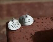 Custom Southern Style Monogram\/Inital Charm Earrings - With a twist