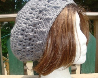 Celebrity Style Beret-Tam-Snood ..... Grey Beard