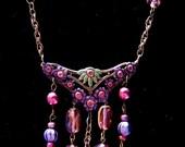 Floral Art Nouveau Filigree Necklace
