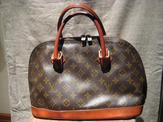 Vintage Louis Vuitton Monogram Alma Style Handbag Purse