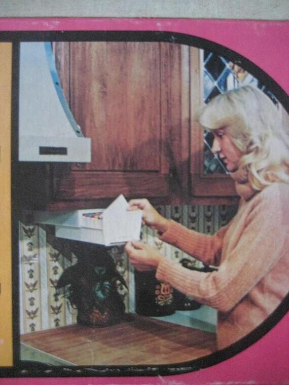 Vintage Recipe Organizer Under The Cabinet File Box