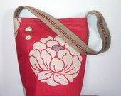 Lotus Flower Upcycled Handbag