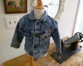 my first acid wash jean jacket- size 18months