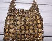 PICCHI - Alfredo Picchi gold beaded evening bag - gold mesh lining