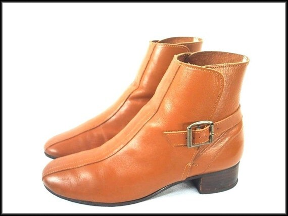vintage MOD Beatle boots 60's 70's ankle booties womens 6